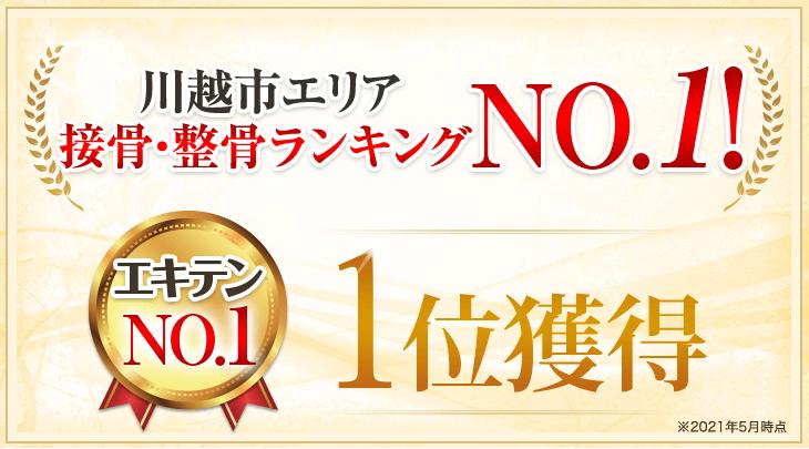 川越市の皆さまに選ばれてエキテンクチコミ件数No.1